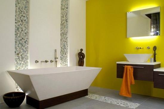 Decorate Bathroom Yellow Tub : Cool yellow bathroom design ideas freshnist